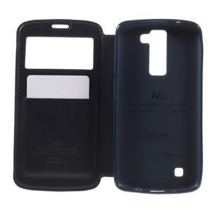 Richi PU kožené puzdro pre mobil LG K8 - tmavomodré - 6