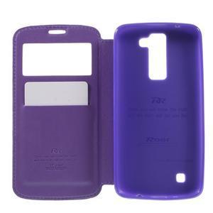 Richi PU kožené pouzdro na mobil LG K8 - fialové - 6