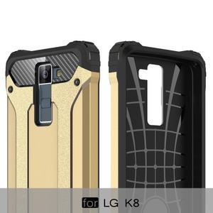 Armory odolný obal pre mobil LG K8 - zlatý - 6