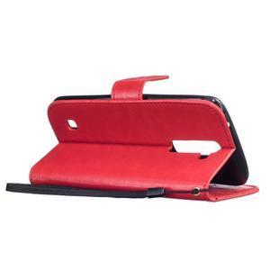 Dandelion PU kožené puzdro pre mobil LG K8 - červené - 6