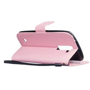 Dandelion PU kožené puzdro pre mobil LG K8 - ružové - 6