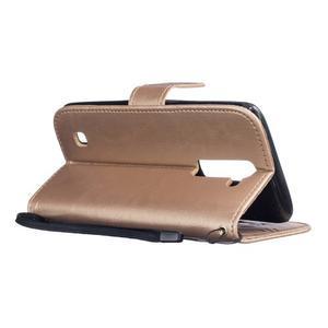 Dandelion PU kožené pouzdro na mobil LG K8 - zlaté - 6