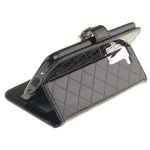 Luxusní PU kožené puzdro s přezkou na LG K8 - čierne - 6