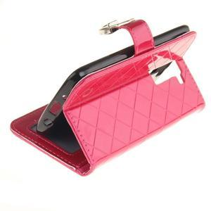 Luxusní PU kožené puzdro s přezkou na LG K8 - rose - 6