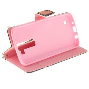 Style PU kožené puzdro pre LG K8 - mýtické púpavy - 6