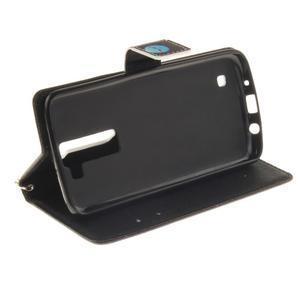Style PU kožené pouzdro na LG K8 - nedotýkat se - 6