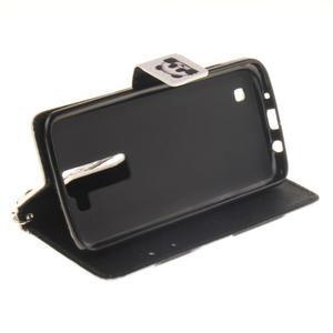 Style PU kožené puzdro pre LG K8 - panda - 6