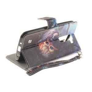 Style PU kožené pouzdro na LG K8 - sovičky - 6