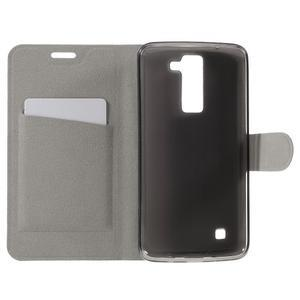 Horse PU kožené pouzdro na mobil LG K8 - bílé - 6