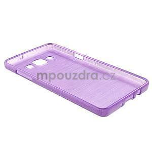 Broušený gélový obal Samsung Galaxy A5 - fialový - 6