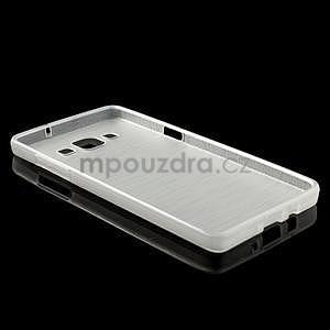 Broušený gélový obal Samsung Galaxy A5 - biely - 6
