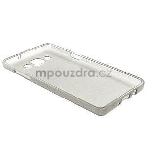 Broušený gélový obal Samsung Galaxy A5 - šedý - 6