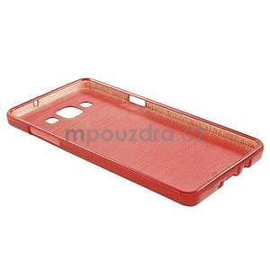 Broušený gélový obal Samsung Galaxy A5 - červený - 6
