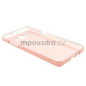 Broušený gélový obal Samsung Galaxy A5 - růžový - 6