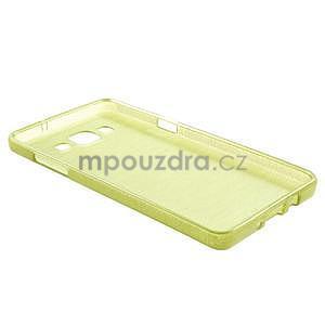 Broušený gélový obal Samsung Galaxy A5 - zelený - 6