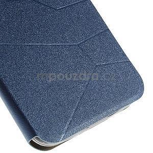 Modré klopové puzdro s okienkom na Asus Zenfone 2 ZE551ML - 6