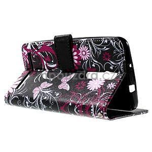 Zapínacie peňaženkové puzdro pre Asus Zenfone 2 ZE551ML - motýľik - 6
