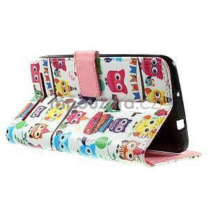 Zapínacie peňaženkové puzdro na Asus Zenfone 2 ZE551ML - sovičky - 6