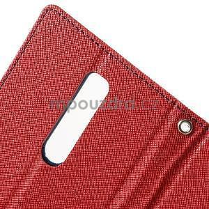 Zapínacie PU kožené puzdro na Asus Zenfone 2 ZE551ML - červené - 6