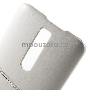 Biely PU kožený / plastový kryt na Asus Zenfone 2 ZE551ML - 6