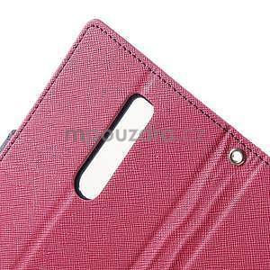Zapínacie PU kožené puzdro na Asus Zenfone 2 ZE551ML - rose - 6