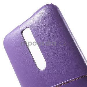 Fialový PU kožený/plastový kryt na Asus Zenfone 2 ZE551ML - 6