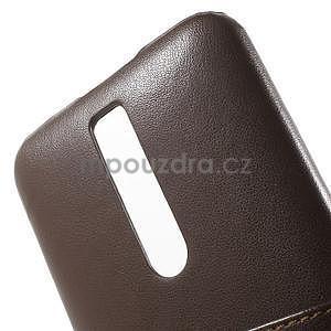 Hnedý PU kožený/plastový kryt pre Asus Zenfone 2 ZE551ML - 6