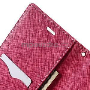 Zapínacie PU kožené puzdro na Asus Zenfone 2 ZE551ML - ružové - 6