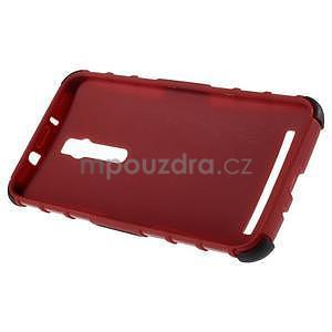 Vysoko odolný gélový kryt so stojanom pre Asus Zenefone 2 ZE551ML - červený - 6