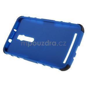 Vysoko odolný gélový kryt so stojanom pre Asus Zenefone 2 ZE551ML - modrý - 6