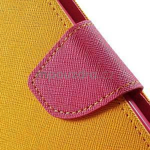Zapínacie PU kožené puzdro na Asus Zenfone 2 ZE551ML - žlté - 6