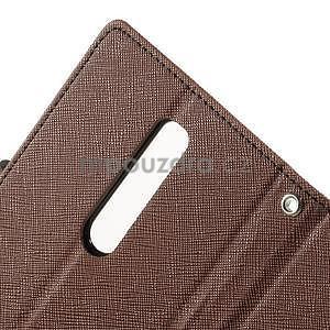 Zapínacie PU kožené puzdro pre Asus Zenfone 2 ZE551ML - hnedé - 6