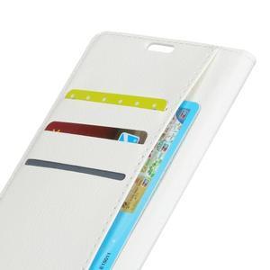 Skiny PU kožené zapínacie puzdro na Asus Zenfone 4 ZE554KL - biele - 6