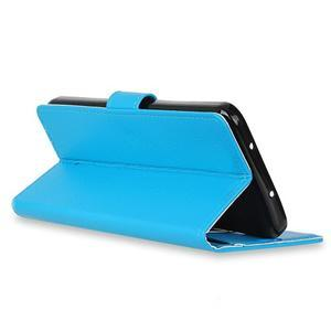 Skiny PU kožené zapínacie puzdro na Asus Zenfone 4 ZE554KL - modré - 6