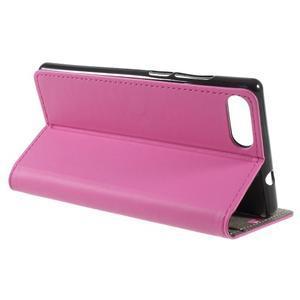 Standy PU kožené puzdro na mobil Doogee Mix - rose - 6