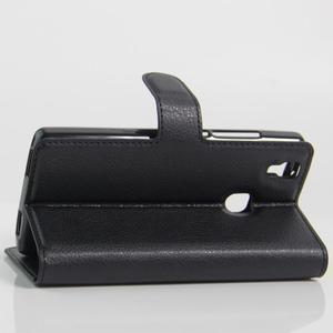 Wallet PU kožené puzdro na Doogee X5 Max/X5 Max Pro - čierne - 6