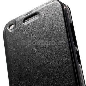 Klopové puzdro na Huawei Ascend G7 - čierne - 6