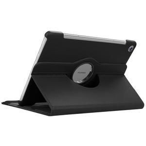 Litchi PU kožené puzdro na Huawei MediaPad M5 10 - čierne - 6