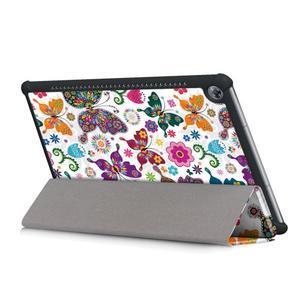 Emotive PU kožené puzdro na Huawei MediaPad M5 10 - motýliky - 6