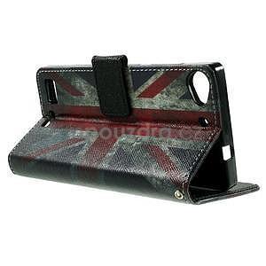 Peňaženkové PU kožené puzdro Lenovo Vibe X2 - UK vlajka - 6
