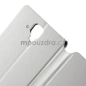 Peňaženkové kožené puzdro na Lenovo A536 - biele - 6