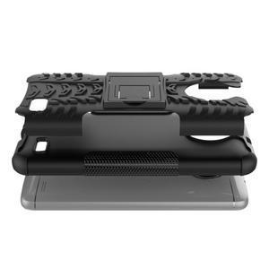 Outdoor odolný obal zo stojanom pre Lenovo Moto E4 - čierny - 6
