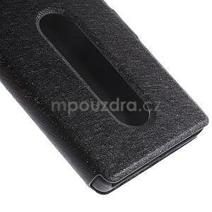 Kožený obal s okýnky na Lenovo Vibe X2 - čierny - 6