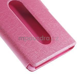 Kožený obal s okýnky na Lenovo Vibe X2 - rose - 6