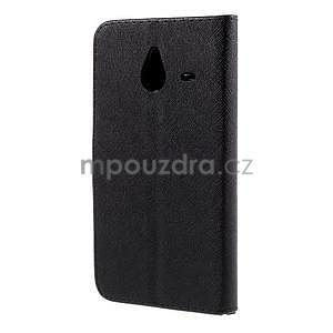 PU kožené puzdro na Microsoft Lumia 640 XL - čierne - 6