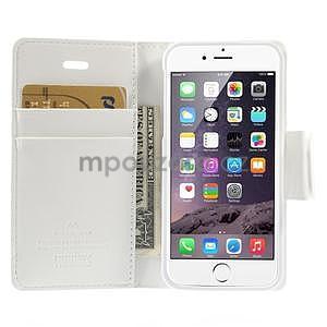 Peňaženkové koženkové puzdro pre iPhone 5s a iPhone 5 - biele - 6