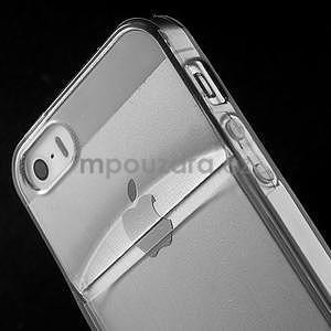 Ultra tenký obal s vreckom pre iPhone 5 a 5s - šedý - 6