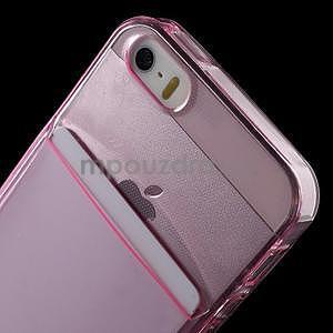 Ultra tenký obal s vreckom pre iPhone 5 a 5s - rose - 6