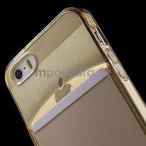 Ultra tenký obal s vreckom pre iPhone 5 a 5s - champagne - 6