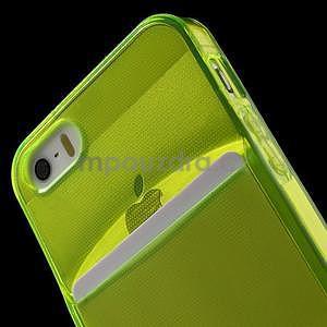 Ultra tenký obal s vreckom pre iPhone 5 a 5s - zelenožltý - 6